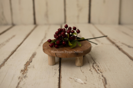 Wooden Cake Stand (small) (NIEUW)
