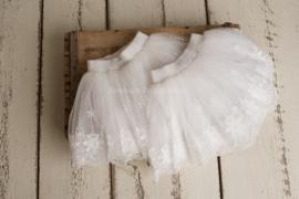 Lola kanten tule rokje wit 1-2 jaar
