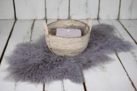 Luxe gestylde set Taupe/Paars met Natural Basket