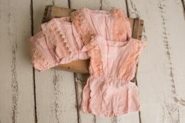 Cassy linnen jumpsuit  12 - 18 maanden roze