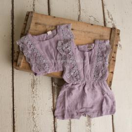 Cassy linnen jumpsuit  12 - 18 maanden lila
