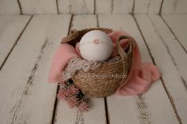 Mooie complete set met Natural Basket (roze) (NIEUW)