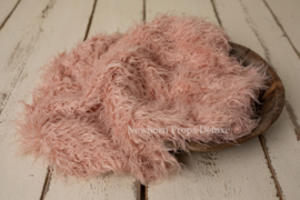 Luxe faux fur layer - Soft Pink (100 x 80cm) (NIEUW)