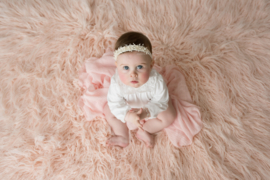 Luxurious faux fur soft peach