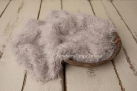 Luxe faux fur layer - Silver Grey (100 x 80cm) (NIEUW)