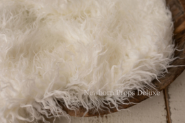Luxe faux fur layer - White (100 x 80cm) (NIEUW)