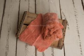 Wol pakket coral met gevilte layer en prop vulling