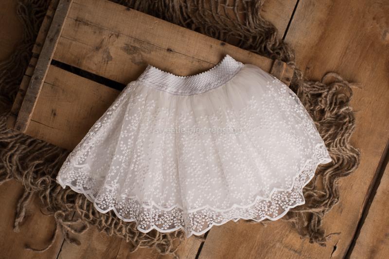 Louise kanten tule rokje wit 1-2 jaar