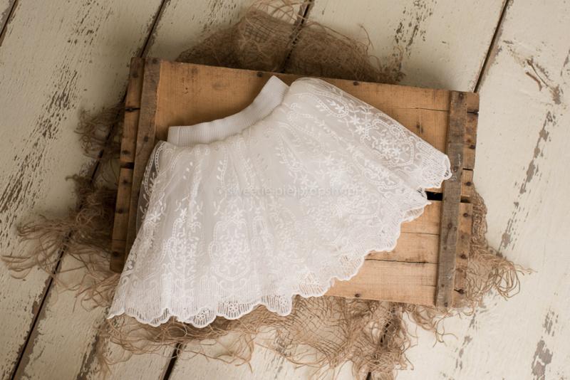 Sarah kanten tule rokje wit 1-2 jaar
