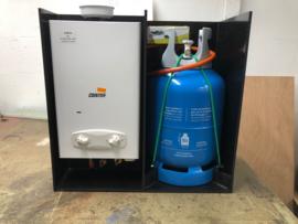 Dubbel montageframe tbv heater en gasfles
