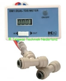 Dual inline tds meter
