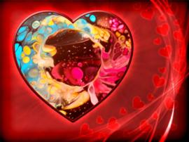 Whispering of my heart - hart op bestelling met zielenboodschap