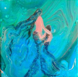 Mother & Child Mermaid
