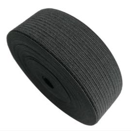 Elastiek Band Zwart Nylon 6cm (per meter)