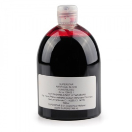 Superstar Kunstbloed helder dun (clear thin) 500 ml