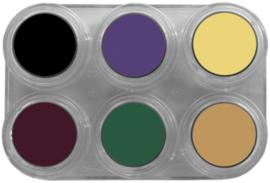 Grimas Crème Make-up Bruise palet 6 x 2,5 ml