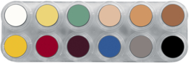 Grimas Crème Make-up Lotuspalet L basiskleuren (12 x 2,5 ml)
