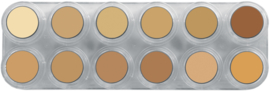 Grimas Crème Make-up huidskleuren palet V (12 x 2,5 ml)