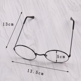 Bril zonder sterkte met glazen