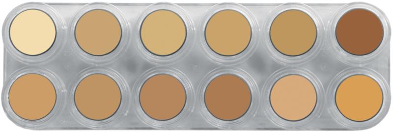 Grimas Crème Make-up huidskleuren palet V 12 x 2,5 ml