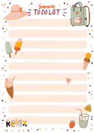 Applepiepieces notitieblokje - Summer To Do List