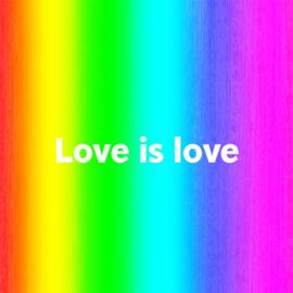 Love is love - wikkelarmband
