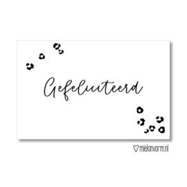 MIEKinvorm minikaart - Gefeliciteerd