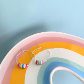 Set armband en oorbellen Color Explosion - zilver