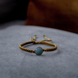 Golden hour winks armband - rond