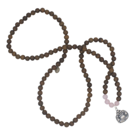 Buddha of Love ketting - roze