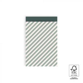 HOP Cadeauzakjes Stripe Diagonal - Blue - 12 x 19 cm