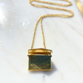 Golden message ketting