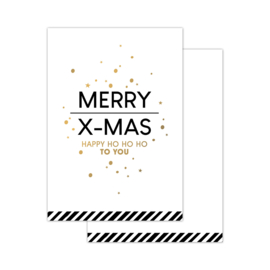 CollectivWarehouse - Minikaartje Christmas wishes wit