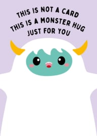 POSTKAART MONSTER HUG