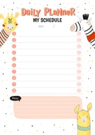 Applepiepieces notitieblokje Daily Planner - My schedule