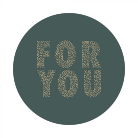 HOP Stickers - For You - Petrol
