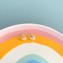Silver luck oorbellen schelp