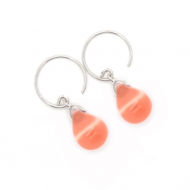 Happy tear oorbellen peach