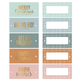 CollectivWarehouse Kerstwensen goldfoil cadeaulabels