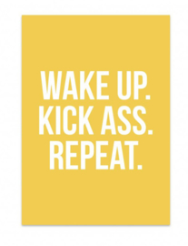 Kaart Wake up. Kick ass. Repeat.