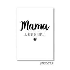 MIEKinvorm ansichtkaart - Mama jij bent de liefste!