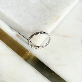 Silver luck ring 6.0