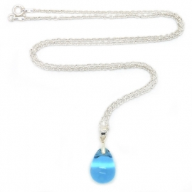 Happy tear ketting sapphire