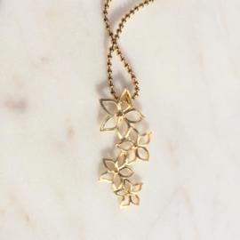Golden flowers ketting
