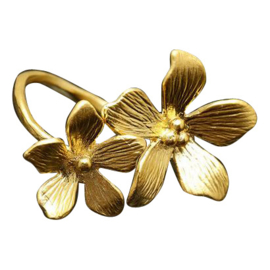 Silver luck ring - I'll bring you flowers gold