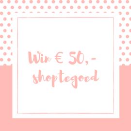 Win € 50,- shoptegoed