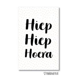 MIEKinvorm minikaart - Hiep Hiep Hoera