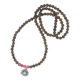 Buddha of Love ketting - donkerroze