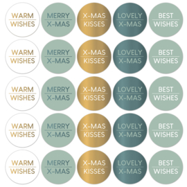 CollectivWarehouse - Kerstwensen stickers