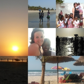New beach sand: Gambia (West-Afrika)